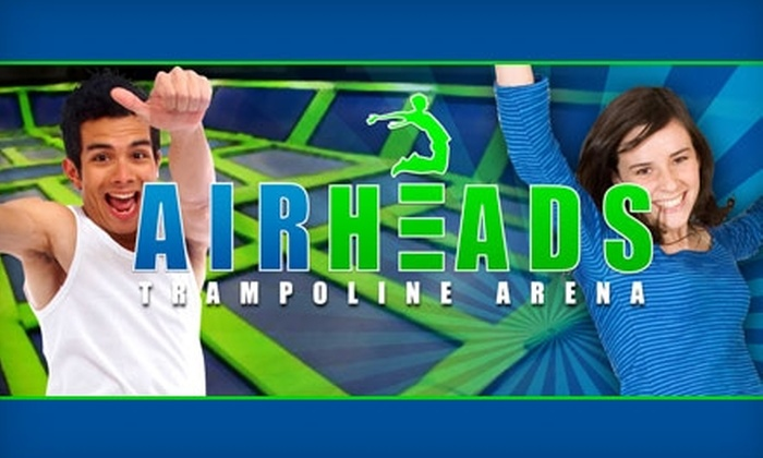 AirHeads Trampoline Arena - Citrus Park-Fern Lake: $18 for Three One-Hour Trampoline-Jump Passes at AirHeads Trampoline Arena ($36 Value)