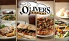 Oliver's Eatery - Far North Dallas: $10 for $20 Worth of Sandwiches, Pizza, Burgers, and More at Oliver's Eatery