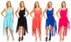 Women's Chiffon High-Low Dress: Women's Chiffon High-Low Dress