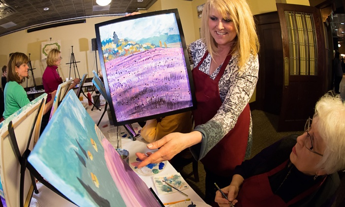 Art & Elixir - Minneapolis / St Paul: Painting Class and Take-Home Painting for One or Two from Art & Elixir (Up to 46% Off). Three Options Available.