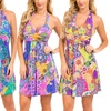 Psychedelic Paisley Print Dress