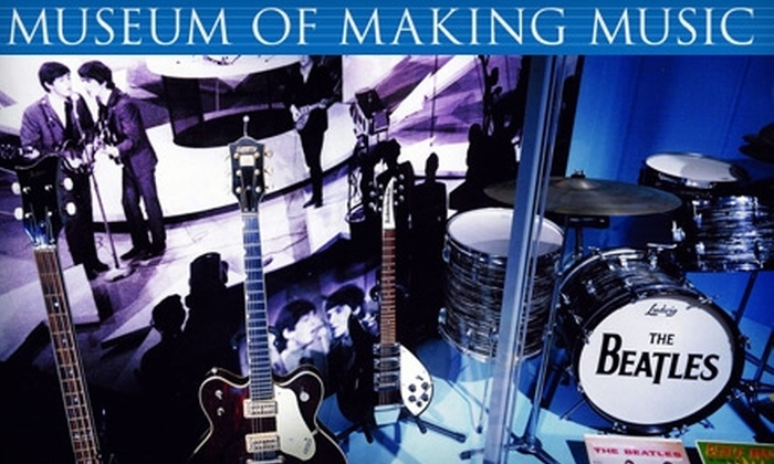 Museum of Making Music - Carlsbad: $20 for Family Membership ($50 Value) or $5 for Two Adult Admissions (Up to $14 Value) to the Museum of Making Music in Carlsbad