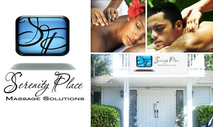 Serenity Place Massage Solutions - Multiple Locations: $40 for Hour-Long Swedish Massage at Serenity Place