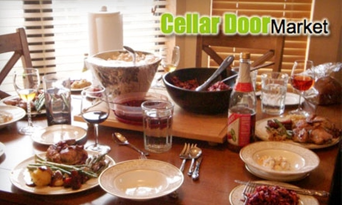 Cellar Door Market: $35 for Five Thanksgiving Trimmings That Feed Six to Eight People from Cellar Door Market ($75 Value)