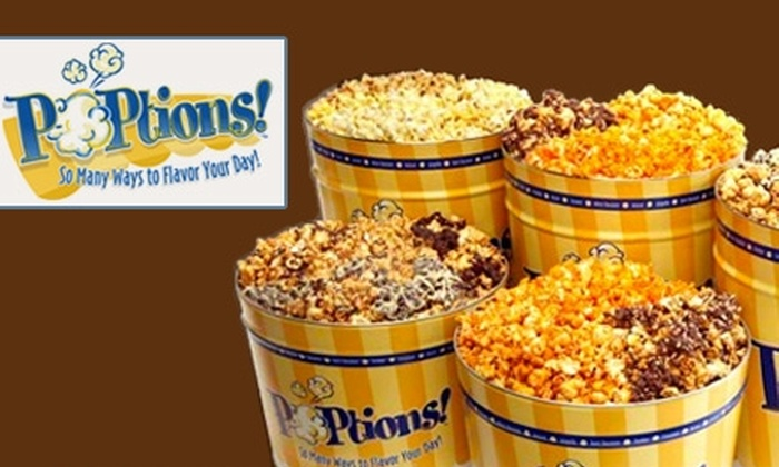 POPtions!: $18 for $36 Worth of Gourmet Popcorn and 25% Off Shipping at POPtions!