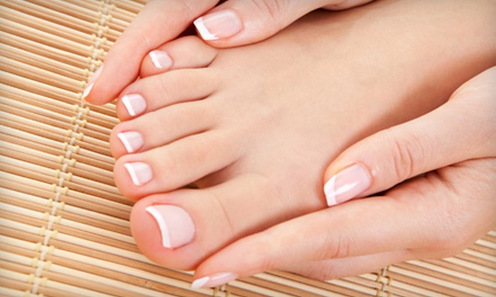 Elysium Day Spa & Cosmetic Shoppe - Nashville-Davidson metropolitan government (balance): Mani-Pedi or Stone-Therapy Massage with Aromatherapy at Elysium Day Spa & Cosmetic Shoppe in Brentwood (Half Off)