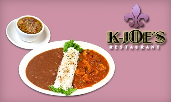 K-Joe's Restaurant - French Quarter: $12 for $25 Worth of Cajun and Creole Fare and Drinks At K-Joe's Restaurant