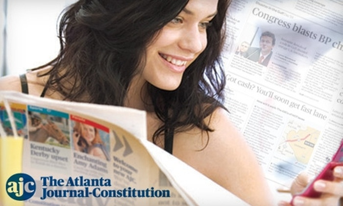 """""""Atlanta Journal-Constitution"""" - Atlanta: $36 for a Six-Month Sunday Subscription to the """"Atlanta Journal-Constitution"""" ($71.94 Value)"""