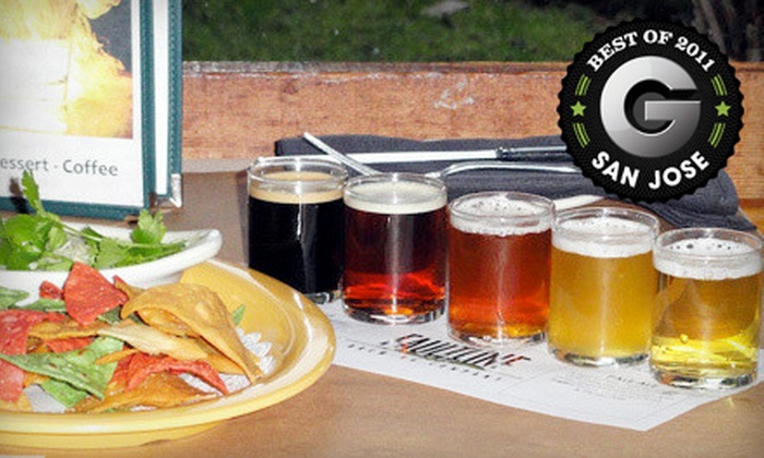 Faultline Brewing Company - San Jose: $10 for a Beer-Sampler Package for Two with One Appetizer at Faultline Brewing Company in Sunnyvale (Up to $21.95 Value)
