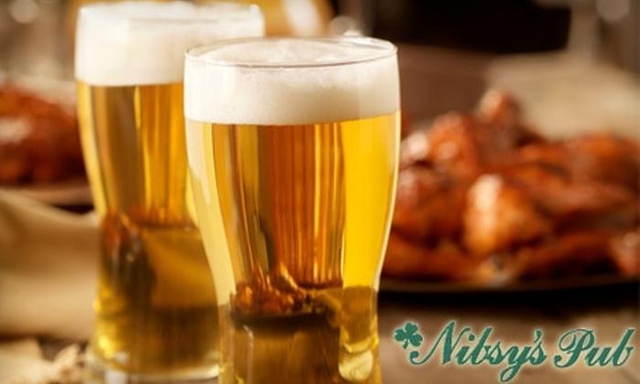 Nibsy's Pub - Westside: $6 for $12 Worth of Pub Fare and Drinks at Nibsy's Pub