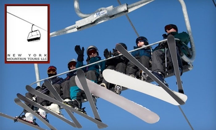 New York Mountain Tours - Multiple Locations: $49 for One Day at Hunter Mountain with New York Mountain Tours ($85 Value)