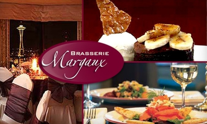 Brasserie Margaux - Belltown: $15 for $30 Worth of Fine French Cuisine and Drinks at Brasserie Margaux