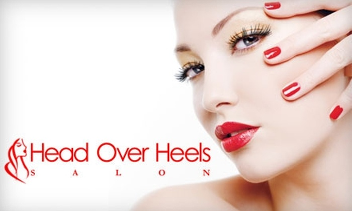 Head Over Heels Salon - Woodward Park: $25 for Either a Basic Mani-Pedi or Rock Star Acrylic Nails at Head Over Heels Salon ($50 Value)