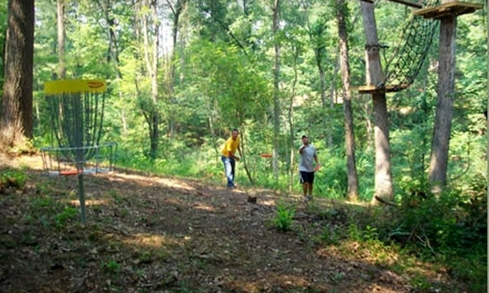 Hocking Peaks Adventure Park - Logan: $65 for a Zip-Line Tour, Photography Package, and Nine Holes of Disc Golf at Hocking Peaks Adventure Park in Logan ($130 Value)