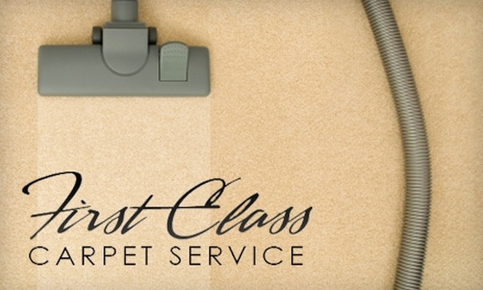 First Class Carpet Service - Port Gardner: $27 for a One-Room Carpet Cleaning and Fabric Protection from First Class Carpet Service (Up to $112.75 Value)