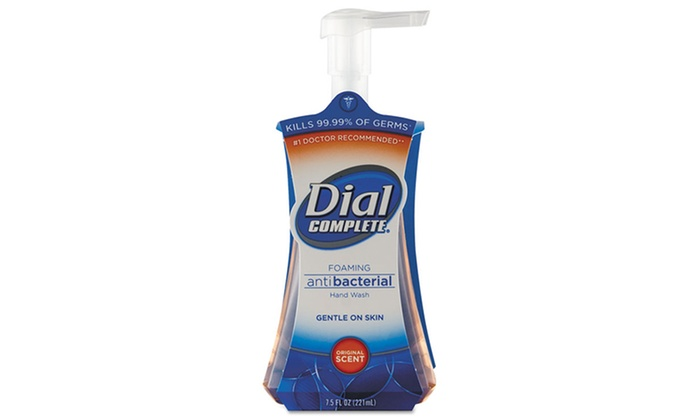 Dial Complete Antimicrobial Foaming Hand Soap (8-Pack): Dial Complete Antibacterial Foaming Hand Soap in Original Scent; 8-Pack of 7.5 Fl. Oz. Pump Bottles.