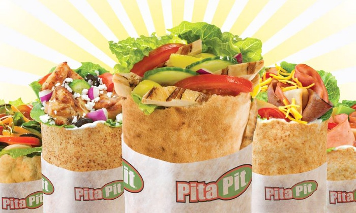Pita Pit - Multiple Locations: Pita Sandwiches and Drinks of Pita Catering Platter for 10 at Pita Pit (Up to 43% Off)
