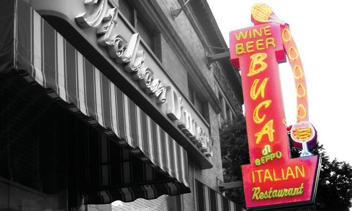 Buca di Beppo - Multiple Locations: $25 for one $25 eGift Card with $10 Bonus Card, All Valid for Italian Cuisine at Buca di Beppo ($35 Value)