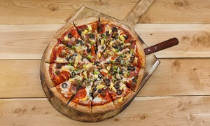 Pizza Pie Cafe: Full Pizza Buffet and Large Drink for Two or Four at Pizza Pie Cafe (Up to 37% Off)
