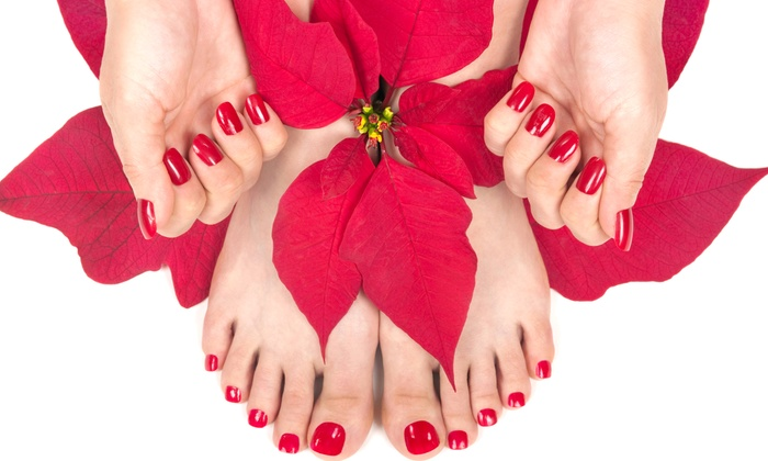 Aphrodite Salon & Spa - Toronto: One or Three Shellac Manicures and Regular Pedicures at Aphrodite Salon & Spa (Up to 60% Off)