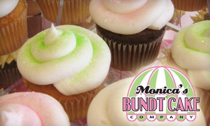 Monica's Bundt Cake Company - Downtown Wichita: $7 for Six Gourmet Glitter Cupcakes at Monica's Bundt Cake Company ($14.25 Value)