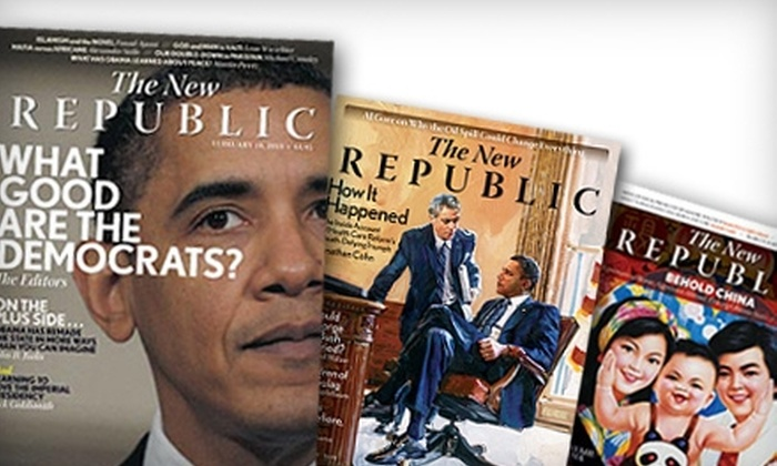 "The New Republic - U Street - Cardozo: $11 for a Six-Month Subscription (10 Issues) to ""The New Republic"" Magazine ($22.50 Value)"