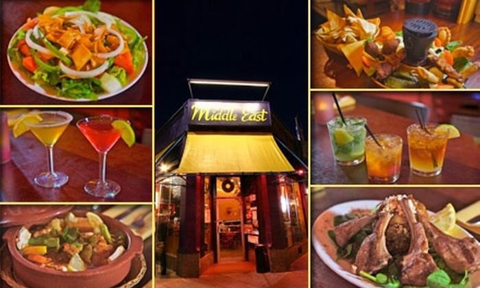 Middle East - Cambridgeport: $15 for $30 Worth of Middle Eastern Eats and Drinks at The Middle East Restaurant and Nightclub