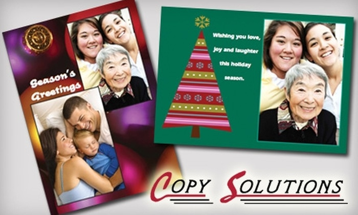 Copy Solutions - Fort Wayne: $7 for 25 Holiday Photo Cards at Copy Solutions ($19.95 value)
