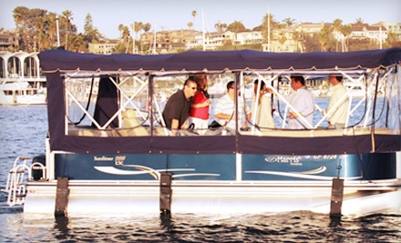 2-Hour Luxury Pontoon-Boat Rental Valid Monday-Thursday (a $200 value) - Newport Pontoons in Newport Beach