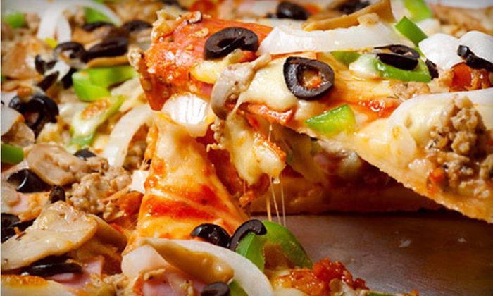 5 Boroughs Pizza & Subs - Old Town: $15 Worth of Thin-Crust Pizza & Sandwiches