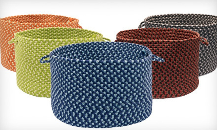 Braided Storage Baskets: Indoor/Outdoor Braided Storage Baskets (Up to 70% Off). Multiple Options and Colors Available.