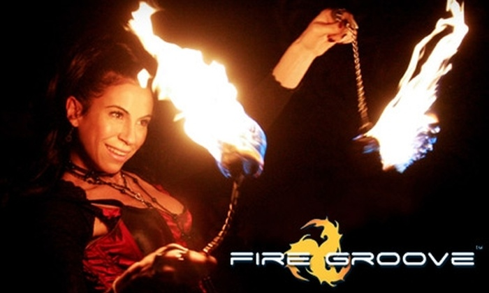 Fire Groove - Hollywood: $35 for Three Fire-Dancing Classes at Fire Groove in Hollywood ($90 Value)