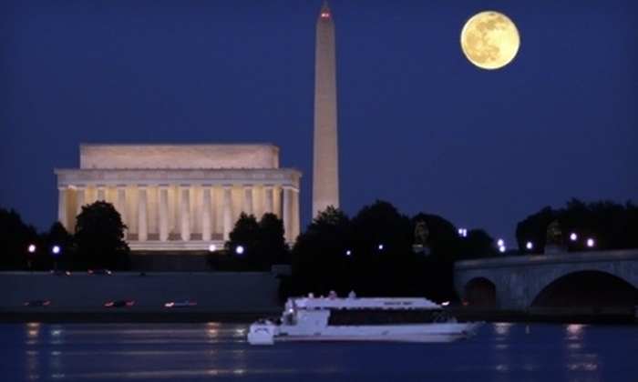 DC Cruises - Southwest Washington: $18 One Ticket to a Monuments by Moonlight Cruise or Happy Hour Tour from DC Cruises (Up to $36 Value)