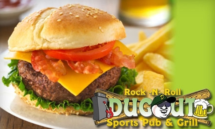 Dugout Pub & Grill - Westerleigh: $12 for $25 Worth of Pub Fare and Drinks at Dugout Pub & Grill on Staten Island
