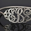 Customizable Clasp Bangle Monogram Bracelet (Up to 91% Off)