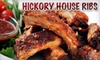 Hickory House Ribs - Parker: $15 for $30 Worth of Dinner and Drinks at Hickory House Ribs in Parker