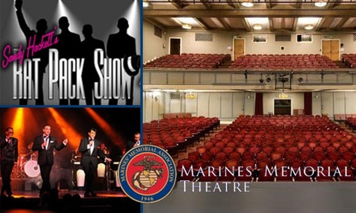 Marines' Memorial Theatre - Civic Center: $29 Ticket to Sandy Hackett's Rat Pack Show at Marines' Memorial Theatre on June 12 or June 19 ($59 Value). Choose from Four Shows.
