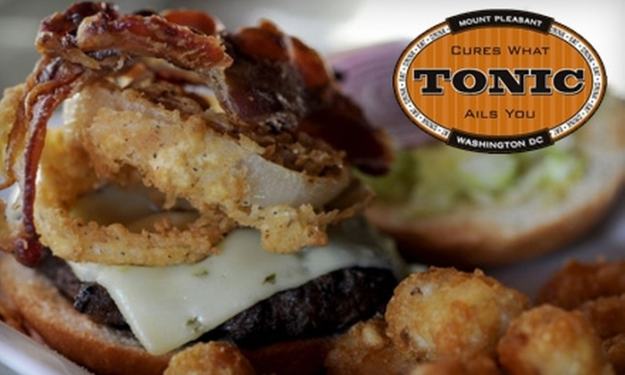 Tonic Restaurant - Multiple Locations: $20 for $40 Worth of Classic American Dinner at Tonic Restaurant (or $10 for $20 Worth of Lunch and Brunch)