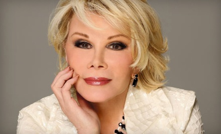 Joan Rivers on Mon., Dec. 5 at 8PM: Balcony or Loge Seating - The Union in Calgary