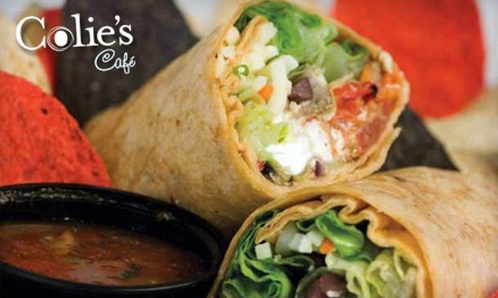 Colie's Café - Multiple Locations: $9 for $20 Worth of Wraps, Panini, Salads, Flat Bread Pizza, and More at Colie's Café