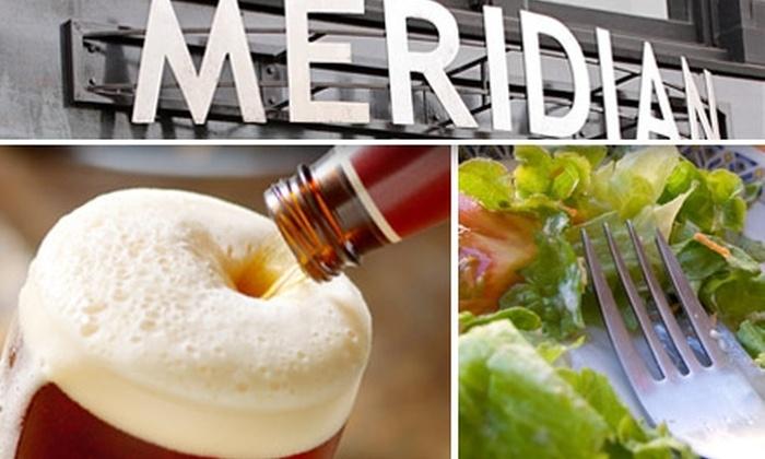 Meridian Sports Café  - South Berkeley: $15 for $30 Worth of Pub Fare and Drinks at Meridian Sports Café