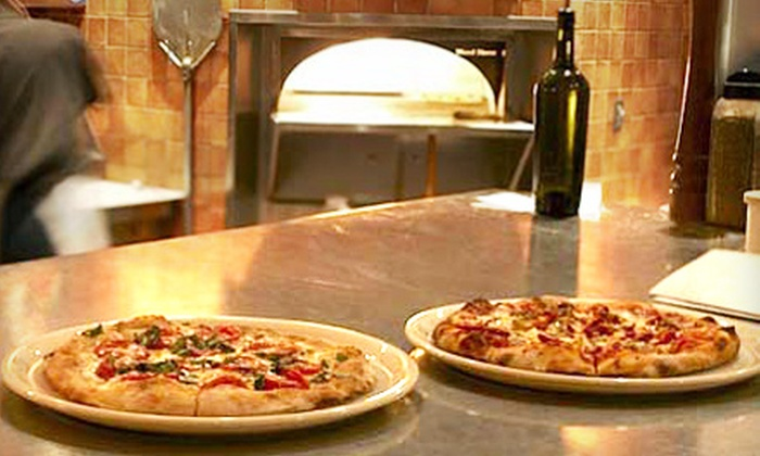 Pizza Nea - NE Minneapolis: Pizza Dinner and Wine for Two at Pizza Nea. Four Options Available.