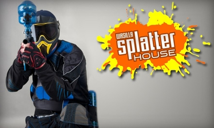 Wasilla SplatterHouse Paintball - Wasilla: $35 for Two All-Day Passes, Two All-Day Rentals & 500 Paintballs at Wasilla SplatterHouse Paintball ($70 Value)