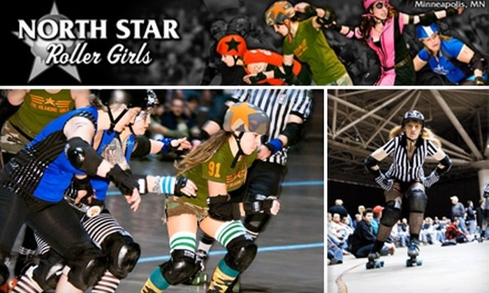 North Star Roller Girls - Stevens Square: $6 for a Ticket to North Star Roller Girls at the Minneapolis Convention Center (Up to $12 Value). Buy Here for General Admission on March 20 at 7:30 p.m. See Below for Additional Date.