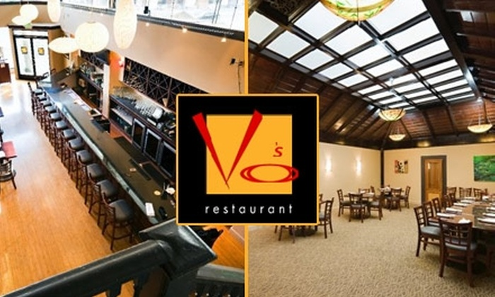 Vo's Restaurant - San Francisco: $20 for $40 Worth of Creative Vietnamese Cuisine and Drinks at Vo's Restaurant
