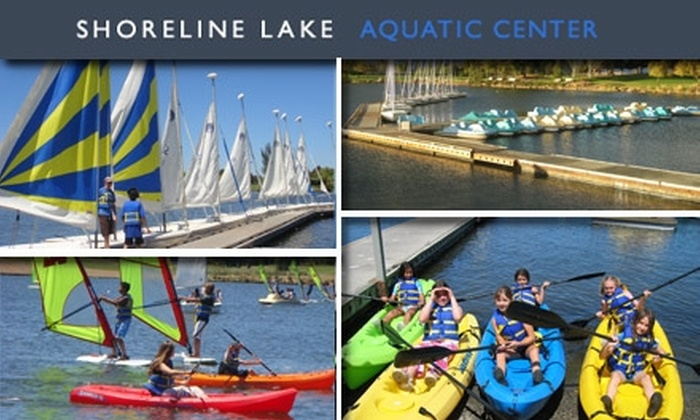 Shoreline Aquatic Center - Mountain View: $30 for $60 Worth of Boat and Bike Rentals at Shoreline Lake Aquatic Center