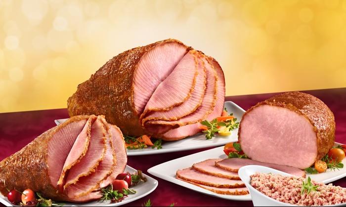 HoneyBaked Ham - Solon: Dinner for Four to Eight, $50 Towards HoneyBaked Ham Bone-In Half Ham, or 8-9 Pound Half Ham at HoneyBaked Ham (Up to 53% Off)