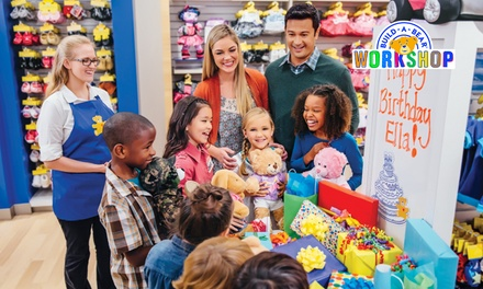 $90 for a BuildAParty Celebration at BuildABear Workshop for Eight Guests $128 Value Westfield Belonnen Store