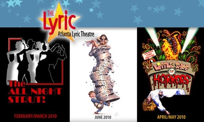"""Atlanta Lyric Theatre - Downtown Marietta: $18 for One Ticket to One of Three Shows at Atlanta Lyric Theatre ($38.10 Value). Buy Here for """"Little Shop of Horrors,"""" running April 16 through May 2. See Below for Additional Shows."""