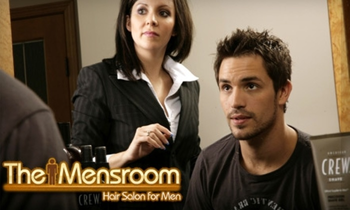 The Mensroom - Stone Industrial: $29 for a Men's Haircut and Two American Crew Products at The Mensroom ($59 Value)